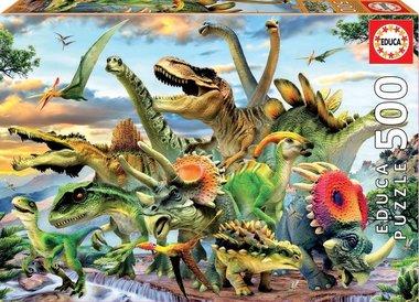 500 stukjes - Dinosaurussen (puzzel)