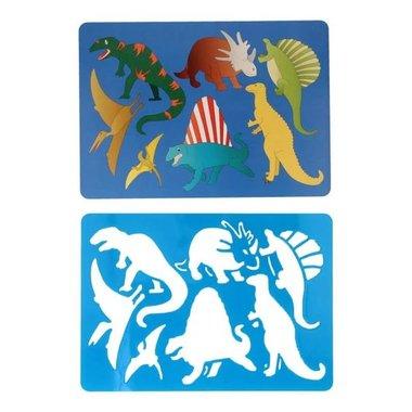Dinosaurus sjabloon (donker blauw)