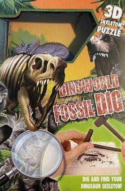 Dig it out:  (Groot pakket) Triceratops skelet (blok) met extra speeldino (Dinoworld)