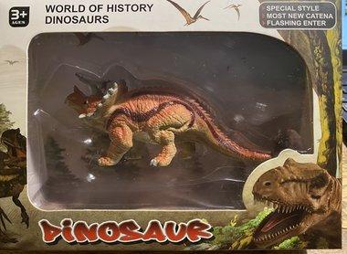 Speeldino Triceratops in verpakking