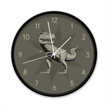 Klok - T-rex  wandklok