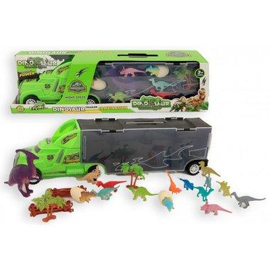 Dinosaurus Vrachtwagen - auto met 15 dino's