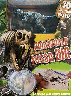 Dig it out: T-rex skelet (blok) met extra speeldino (Dinoworld)