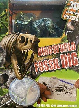 Dig it out: Triceratops skelet (blok) met extra speeldino (Dinoworld)