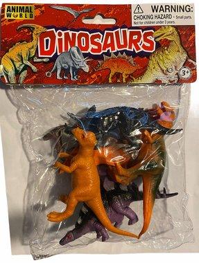 (6x) Dinosaurussen in een zakje (medium)