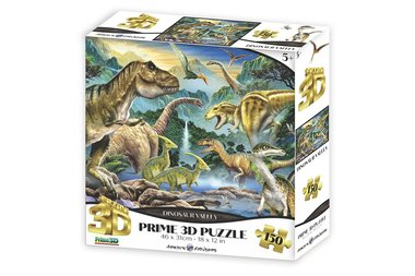 150 stukjes - Dinosaur Valley Prime 3D puzzel