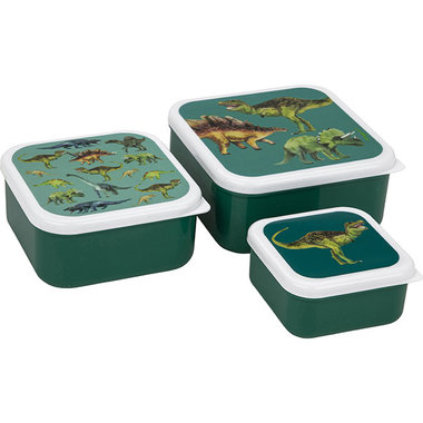 Dinosaurus lunchboxset (3x) - groen - Nature Planet