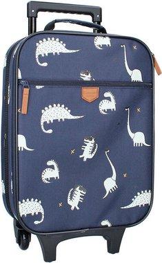 Trolley Koffer Kidzroom Cuddle Dino - donker blauw