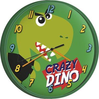 Vrolijke dinosaurus klok - 24 cm