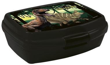 Dinosaurus Lunchbox/broodtrommel Zwart