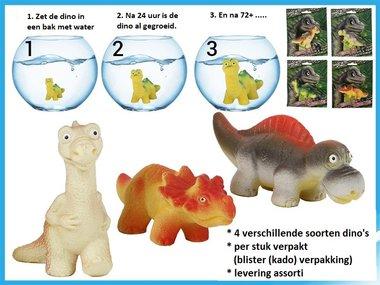 Groeiende dinosaurus (groot) L10 cm