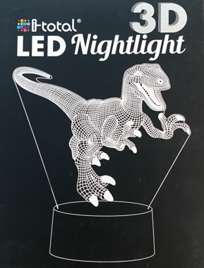 LED Nachtlamp 3D Dinosaurus