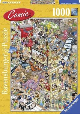 1000 stukjes - Dino ontsnapt - Comic Hollywood Puzzel - Ravensburger