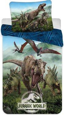 Jurassic World - Blauw - Dekbedovertrek (140x200cm)
