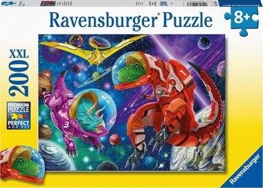 200 stukjes XXL Dinosaurus puzzel - dino's in de ruimte