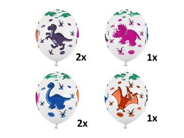 Ballonnen Dinosaurus (6x) - Partydeco