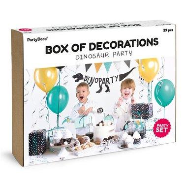 Compleet Dinosaurus Decoratiepakket - set van 39 items - Partydeco