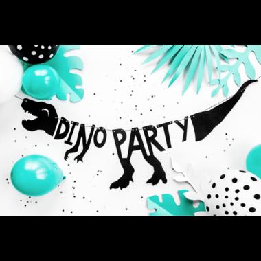 Dino Banner - Dinoparty - Zwart - (Lengte 90 cm)
