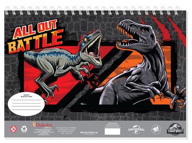Jurassic World Schetsboek - All out Battle