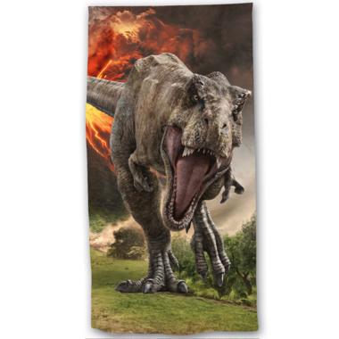 Handdoek - Badlaken Jurassic World - Vulkaan -  (70 x 140 cm)