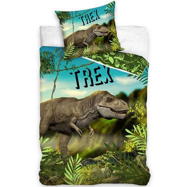 Dinosaurus dekbedovertrek -  T Rex -140 x 200 cm - katoen