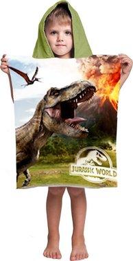 Badponcho Jurassic World - Vulkaan - (50 x 105 cm)
