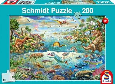 200 stukjes Dinosaurus puzzel - ontdek de dino's
