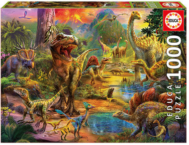 1000 stukjes -  Land of Dinosaurs - Educa