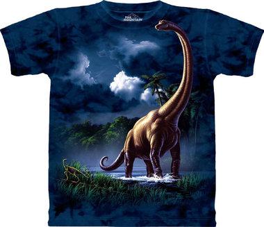 T-shirt Brachiosaurus (blauw)