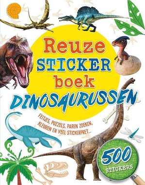 Het reuze stickerboek dino's met 500 stickers