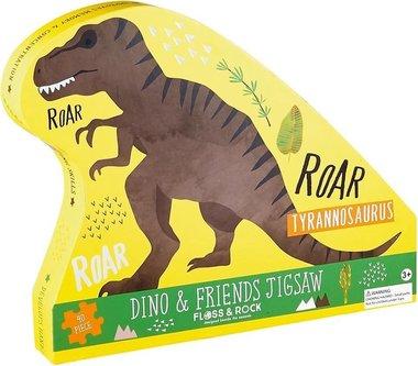 40 stukjes Tyrannosaurus puzzel - Floss & Rock