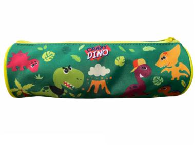 Dinosaurus etui (groen/zwart)