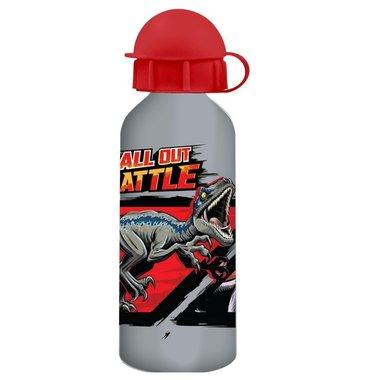 Jurassic World Drinkfles 0,5 L -grijs/rood