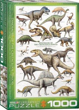 1000 stukjes - Dinosaurs of the Cretaceous Period