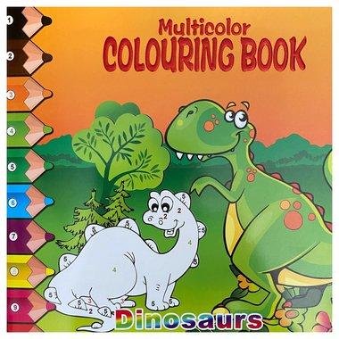 Dinosaurus kleurboek - kleuren op nummer