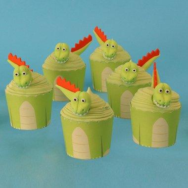 Cupcake Kit Dinosaurus (6x)