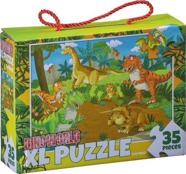 35 stukjes Dinoworld Vloerpuzzel (grote puzzelstukken)