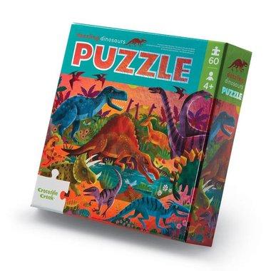 60 stukjes Dinosaurus puzzel - Crocodile Creek -