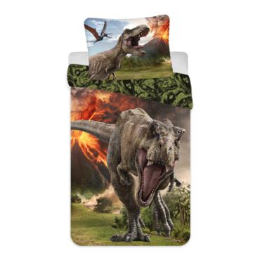 Jurassic World - Vulkaan- Dekbedovertrek (140x200cm)