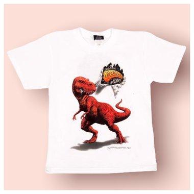 Dinogear - 3D - T-rex shirt (wit) (grote maten)