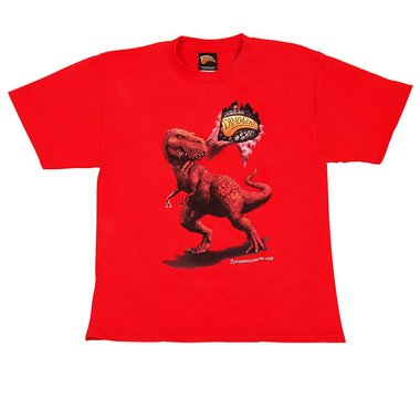 Dinogear - 3D - T-rex shirt (rood) - maat 16/18 jaar (XL)