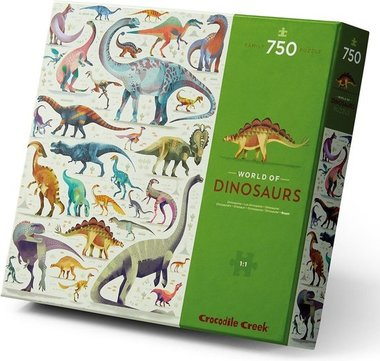 750 stukjes World of Dinosaurus puzzel - Crocodile Creek
