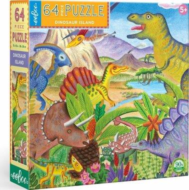 64 stukjes Dinosaurus Puzzel - Age of the Dinosaur