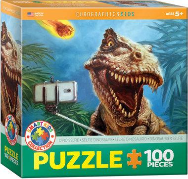 100 stukjes Dinosaurus Puzzel - Dino Selfie