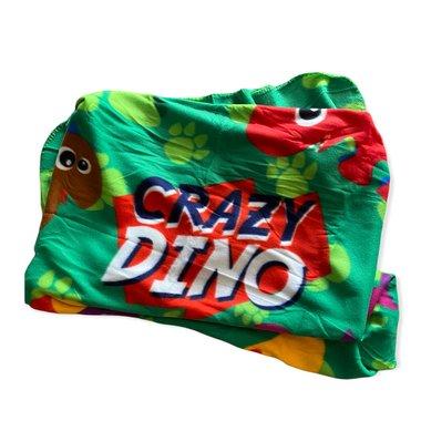 Dinosaurus Fleece deken - Crazy dino -  (100 x 150 cm)