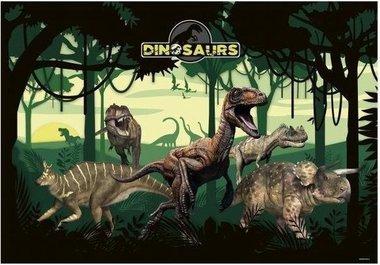 Dinosaurus bureau-onderlegger (in het bos)