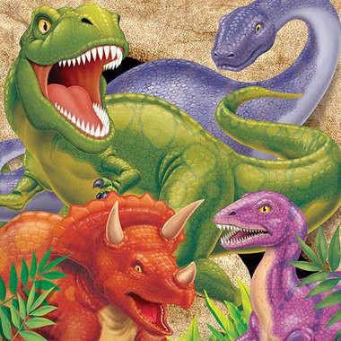 Servetten Dinosaurus (16x) (Tyrannosaurus Feest)