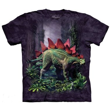 T-shirt Stegosaurus (paars)