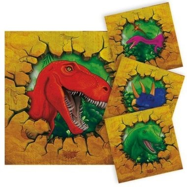 Servetten Dinosaurus (16x) (Dinosaur Party)