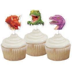 (12x) Dino cake prikkers